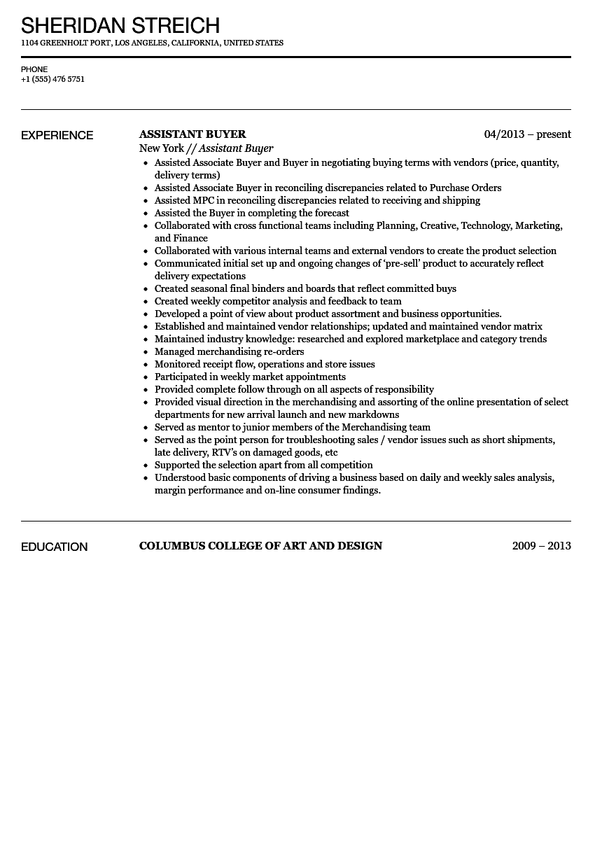 fashion buyer cover letter assistant media buyer cover letter