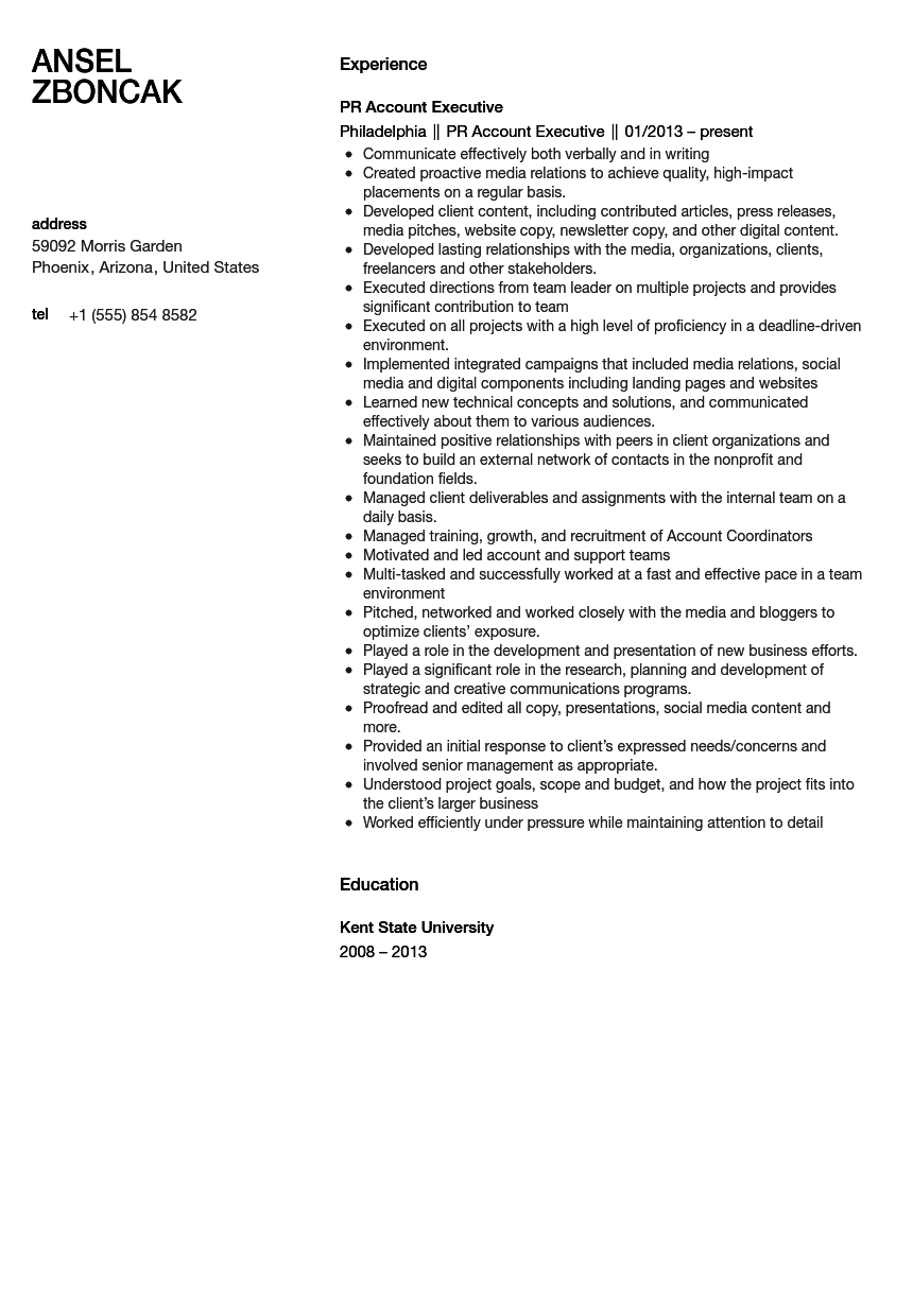 Account Executive Resume Examples Sales Account Manager Resume     Cover Letter Templates sample account executive resume  free resume templates  sales       executive resume