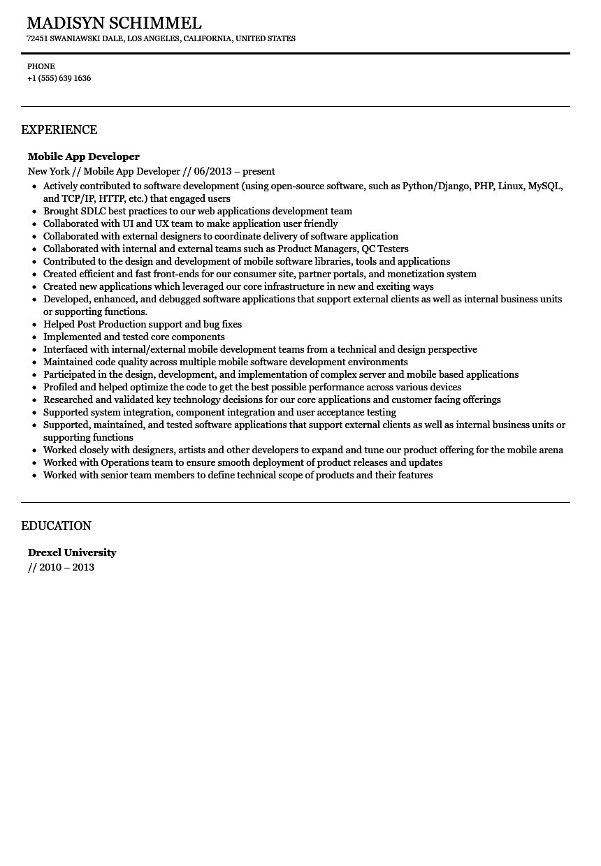 Resume Format Sample For Job Application Resume Format Sample For Job  Application Gopitchco