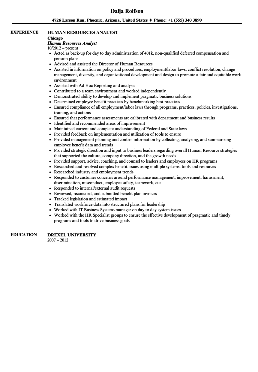 hr resume objective human resources analyst resume examples human resource management resume skills human resources skills