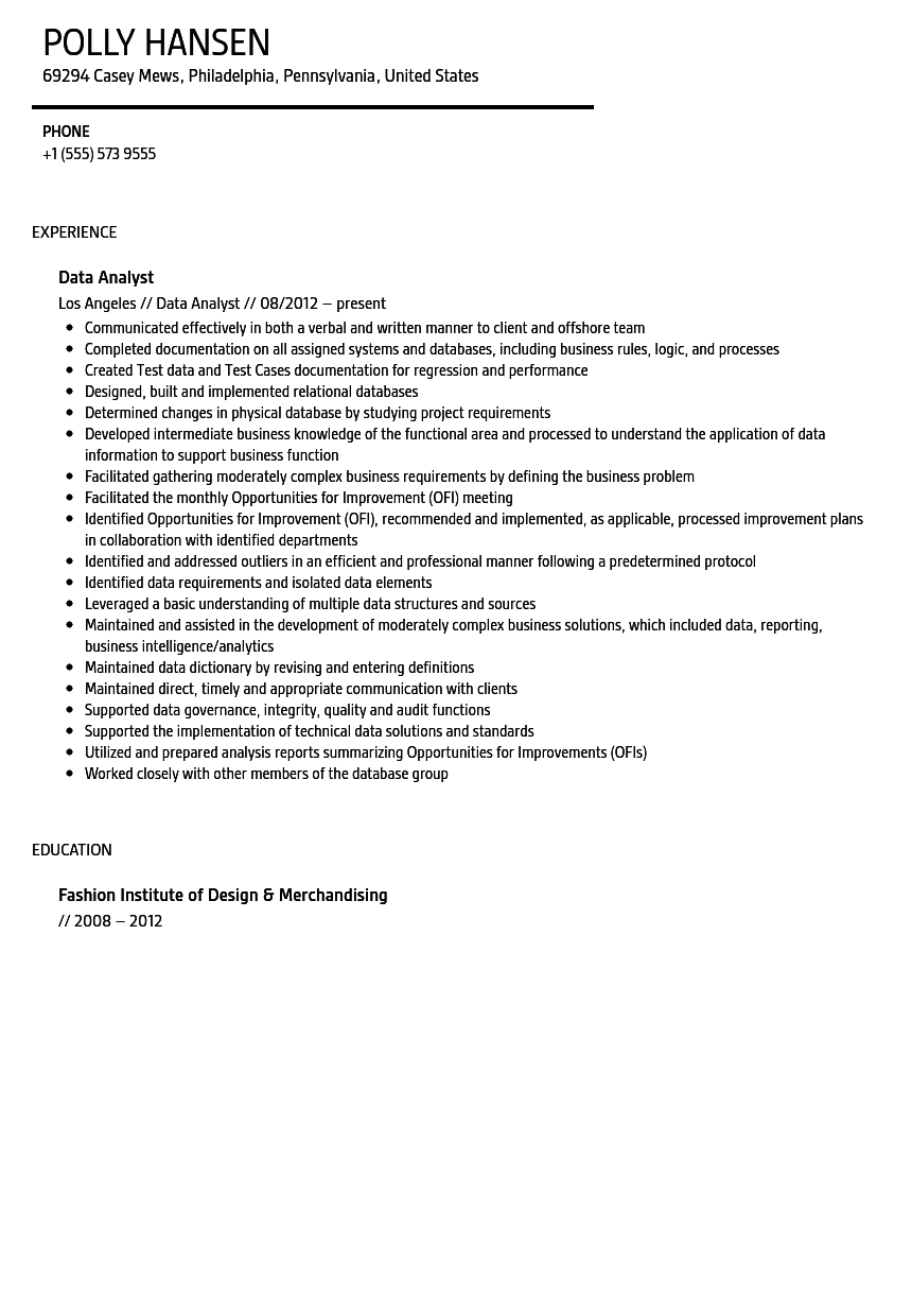 high quality data analyst resume sample from professionals how system analyst resume sample free data analyst - System Analyst Resume Sample Free