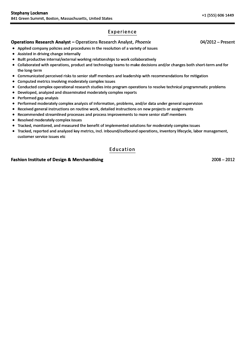 Fund Analyst Resume   Resume Format Download Pdf
