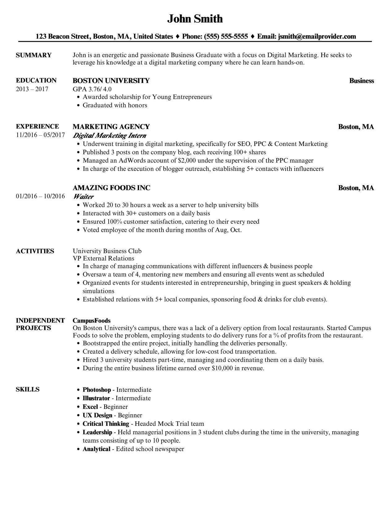 The Ultimate Guide To Writing A Student Resume Velvet Jobs