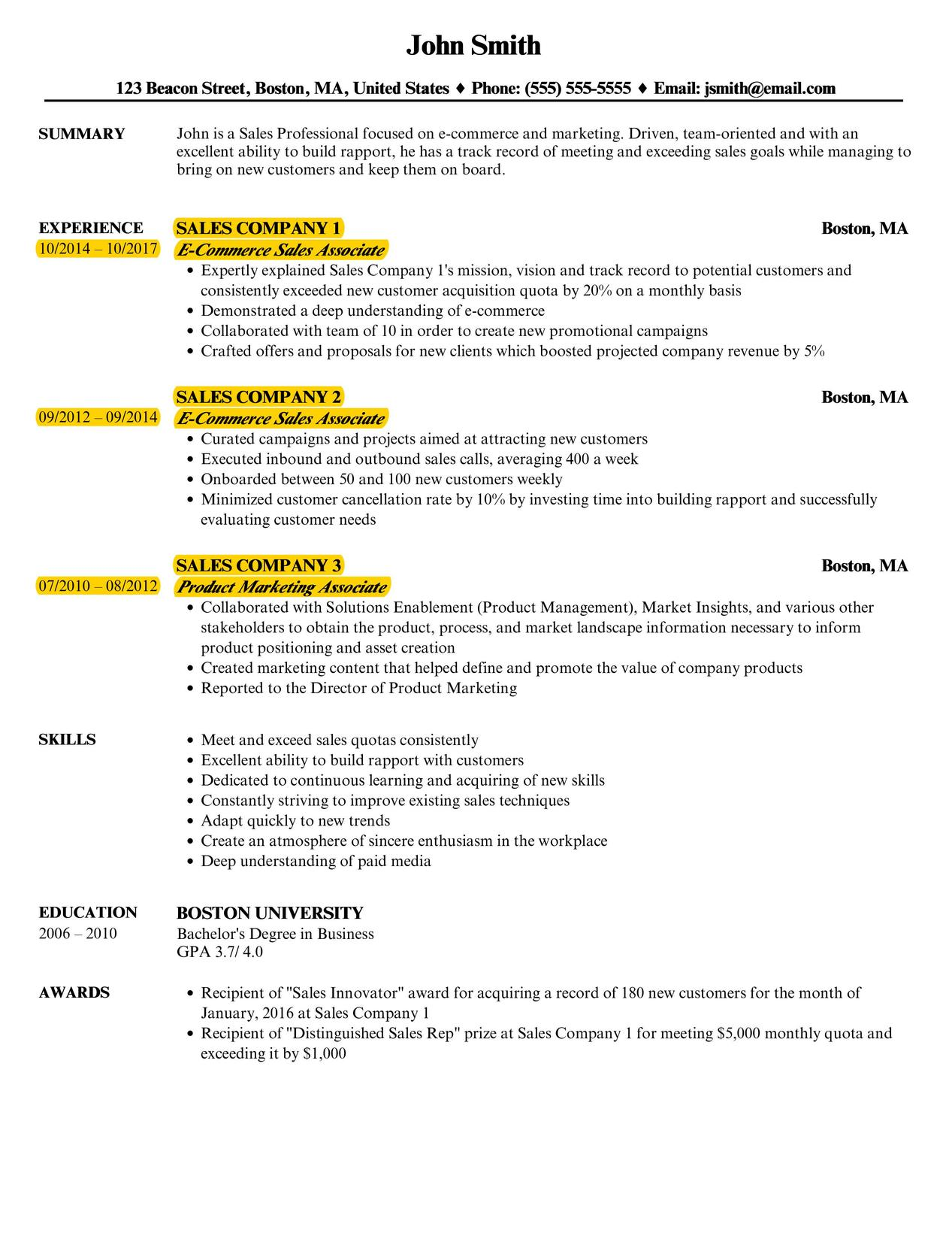 The Best Resume Format Reverse Chronological Velvet Jobs